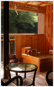 露天風呂付客室備前